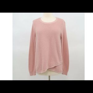Madewell rose blush pink, wrap, high low sweater